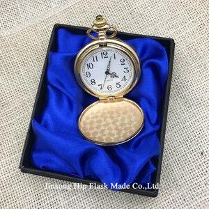 Image 4 - Dia reloj de bolsillo cromado, caja de regalo, negro, plateado, dorado, bronce, 4,5 cm