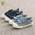 J ghee plantilla 13.5-15.5 cm niños deportes chicas lona de los planos de los niños shoes kids sneakers casual zapatillas de deporte de color de los pantalones vaqueros kids shoes
