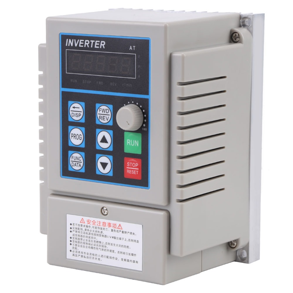 AC 220V 0 75kW 5A Converters Variable Frequency Drive VFD Speed Controller Inverter Single Phrase In