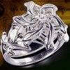 Fine Jewelry Women 100 Real Soild 925 Soild Sterling Silver Rings LOTR The Galadriel Nenya Zircon