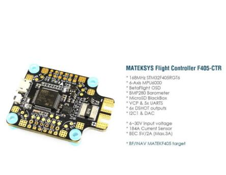 Image 3 - Matek Systems BetaFlight F405 CTR Flight Controller Built in PDB OSD 5V/2A BEC Current Sensor for RC Drone For RC Multicopter-in Parts & Accessories from Toys & Hobbies