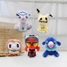 New 2018 18-20cm 5 Styles/lot Alola Vulpix Mimikyu Litten Rowlet Popplio Soft Plush Toys Free Shipping