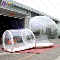 6X4m inflatable crystal bubble tent / transparent bubble tent / inflatable bubble dome tent toy tent