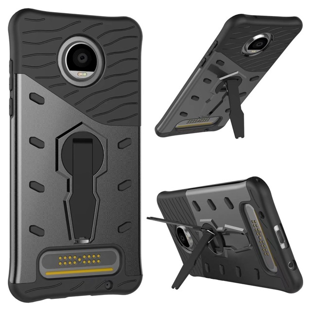 For Moto Z2 Play Case Rugged Hybrid TPU+PC Silicon 360 Rotate Stand Impack Shockproof for Motorola Moto Z2 Play XT1710