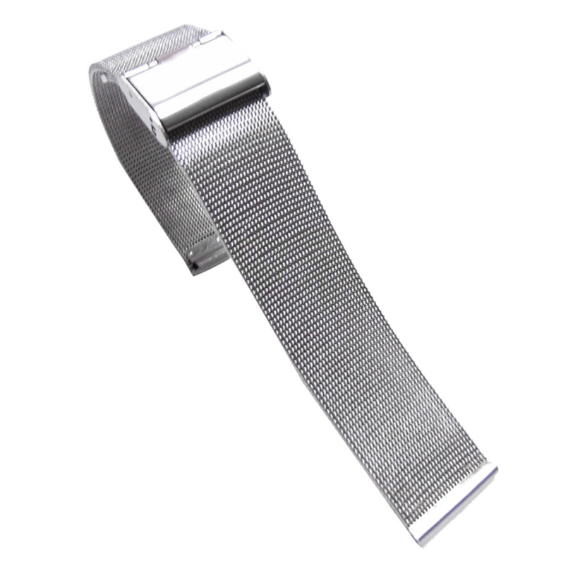 Excellent Quality 24mm Luxury Milanese Loop strap Link Bracelet Stainless Steel Band Adjustable Closure Wrist Watch Watchband
