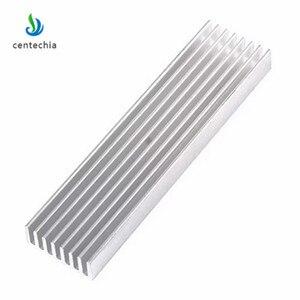 Centechia Aluminum Heat Sink 100*25*10MM Cooling Heatsink Chip Heat Spreader DIY Cooler Heat Sink Processor Power Transistor