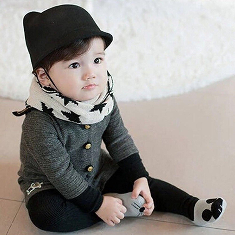 ABWE Best Sale KACAKID Baby Girls Boys Cute Cartoon Socks Newborn Infant Cotton Socks Grey