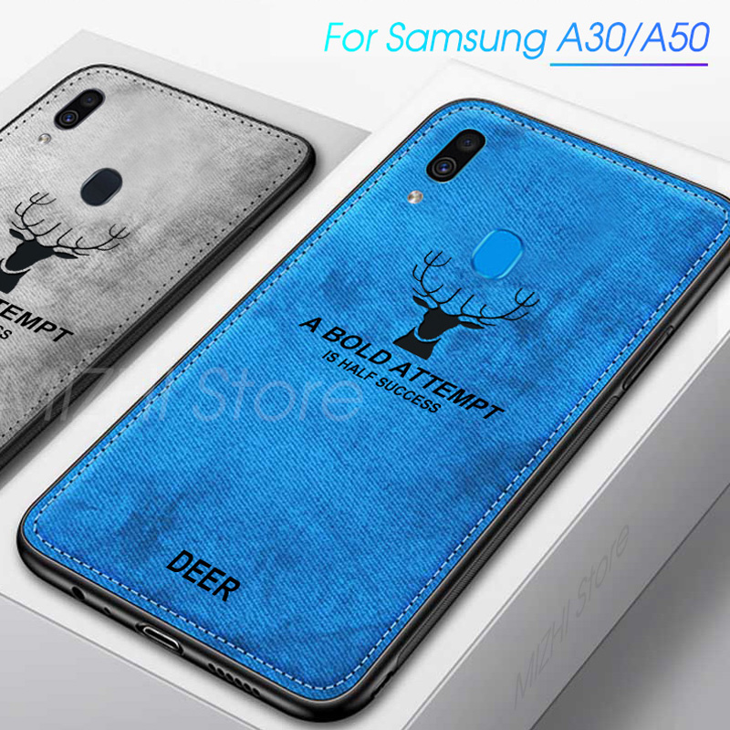 Cloth Texture Phone Case For Samsung A30 Cases For Samsung Galaxy <font><b>A50</b></font> A40 A30 A10 A70 Cover Cases On A 10 30 40 50 70 Coque <font><b>Capa</b></font> image