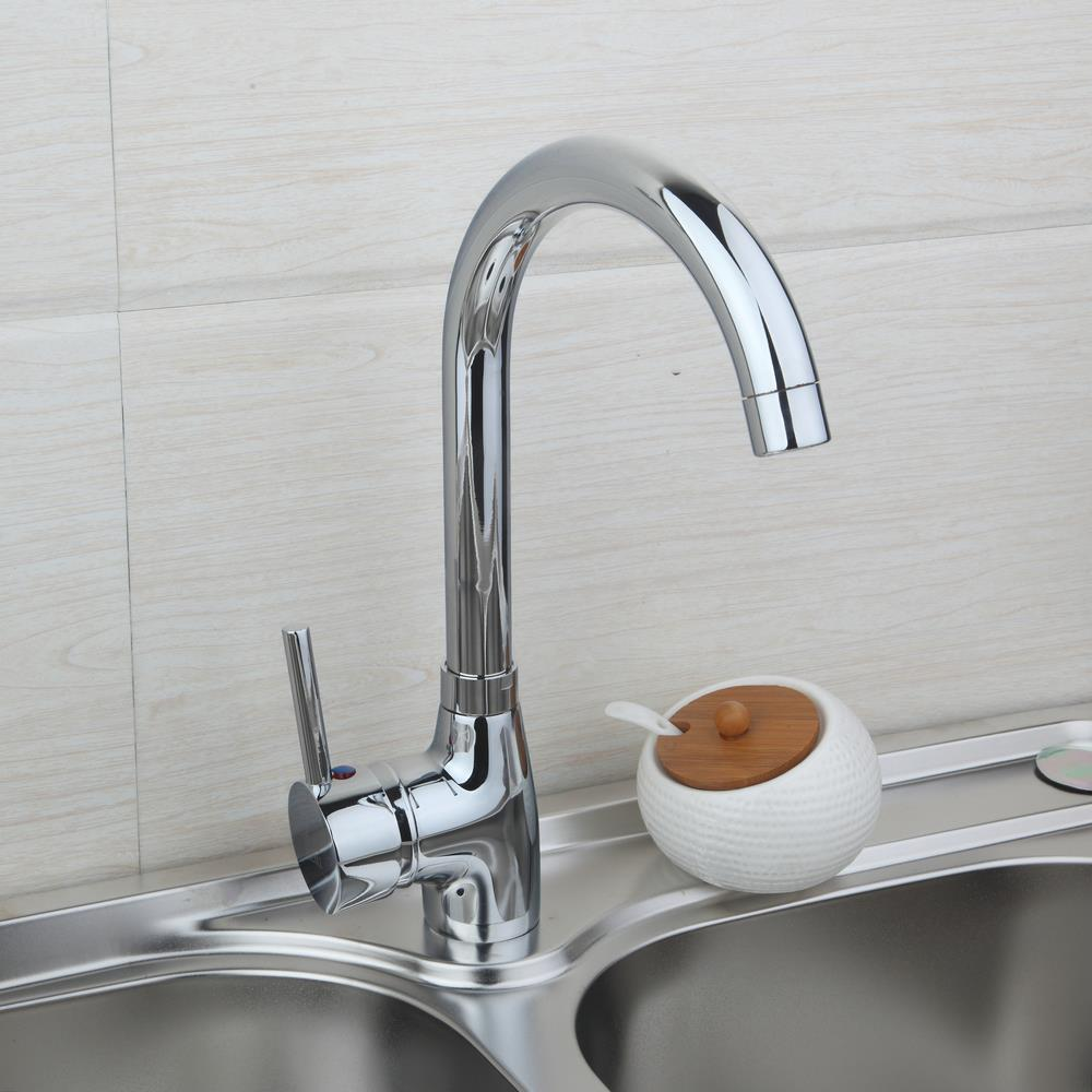 BEST New Kitchen Sink 360 Degree Rotating Faucet Vessel Sink Faucet torneira 8053B Hot Cold Water