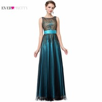 Ever Pretty Evening Dresses HE08740GR Women S Elegant Sleeveless Green Evening Round Neck Long Party Dresses