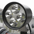 4 Cree chip de 12 W luz auxiliar led Motocicleta Motorbike Farol levou Spotight LED Fog Driving Spot Light Head Lamp