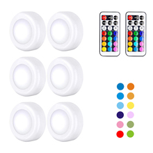 LED Wall Lamp Lights with Remote Wireless Battery Operated 13colors Changeable 6pcs