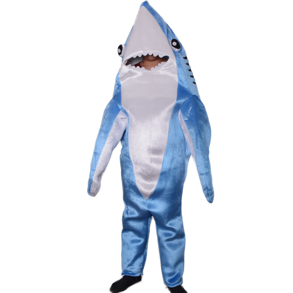 child adult shark costume cute mascot blue funny cosplay fleece fullbody animal party halloween costumes for kids in boys costumes from novelty special