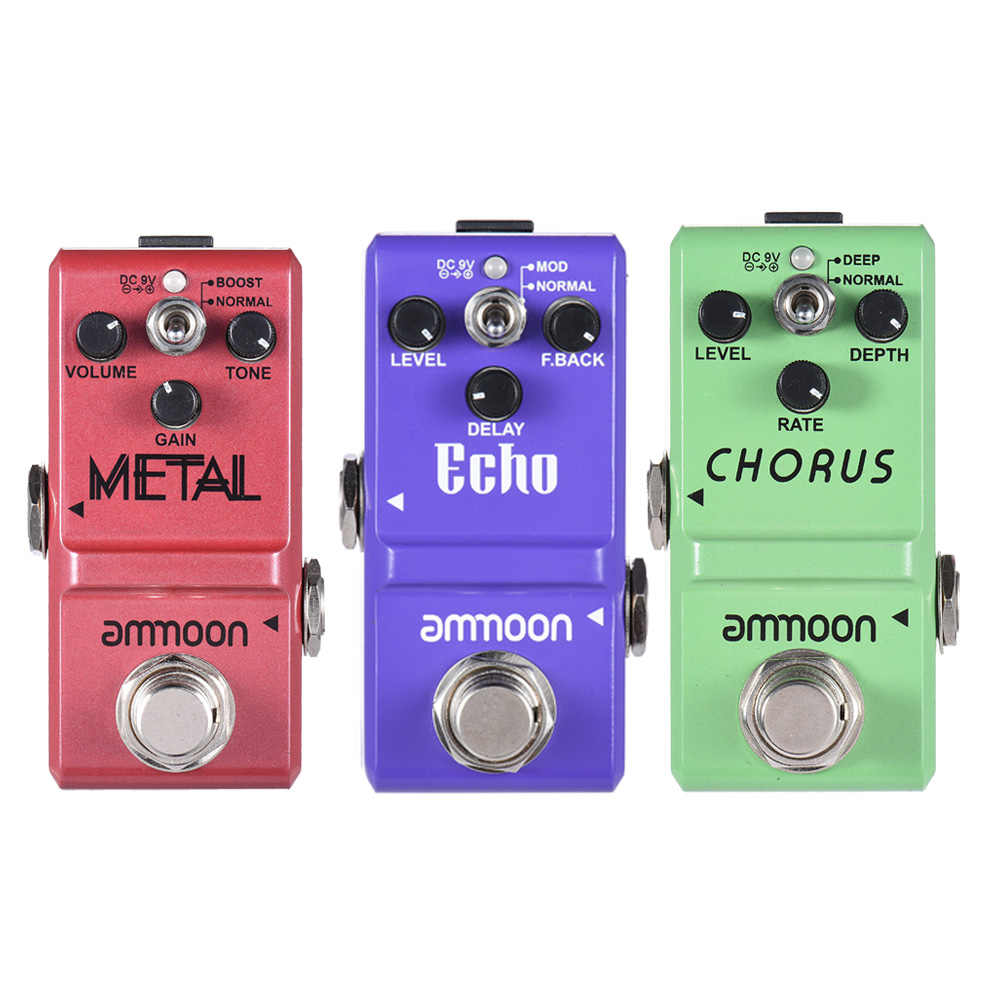 ammoon Series Guitar Effect Pedal Distortion/ Delay/ Chorus Effects Guitar Pedal  True Bypass Guitar Accessories