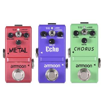 Ammoon Series pedał efektów gitarowych zniekształcenia opóźnienia efekty chóru pedał gitary true bypass akcesoria gitarowe tanie i dobre opinie Guitar Effect Pedal