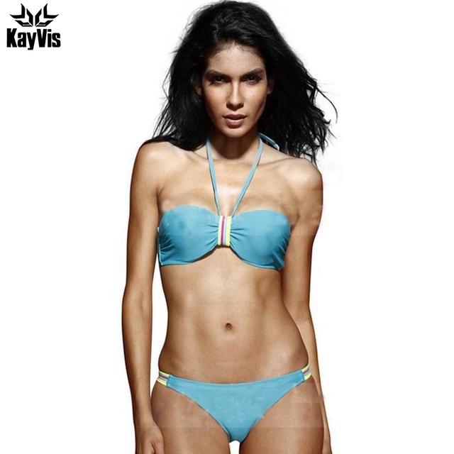 KayVis New 2017 Bikini Brazilian Bathing Suits Swim Halter Top Swimsuit Biquini Swimwear Women Sexy Bikinis Set Maillot De Bain