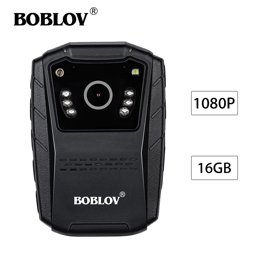BOBLOV S70 2.0HD 1080P 16GB Night Vision Body Worn Camera Security IR DVR Laser Pointer Multi-Function Video Camcorder Recorder blueskysea 2k hd s60 body personal security