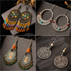 Multiple Vintage Ethnic Dangle Drop Earrings for Women Female Anniversary Bridal Party Wedding Jewelry Ornaments Accessories 1