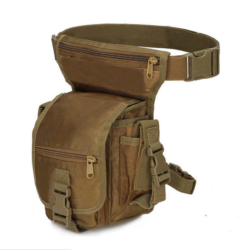 Tactical Hunting Bag Drop Leg Bag Outdoor Riding Motorcycle Cycling Thigh Pack Waist Belt Bag Waterproof Oxford Military Bag