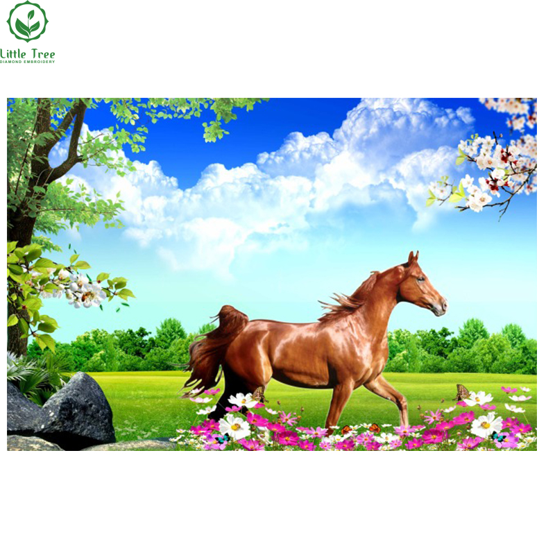 Free Running Horses Diamond Painting Crystal Cross Stitch Rhinestone Embroidery Resin Craft Home Decor Mosaic Pattern Paiting