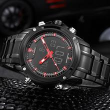 NAVIFORCE Sport fashion Watch Brand Dual Time Zone LED digital watches Alarm Relogio Quartz Digital Military Men Wristwatch