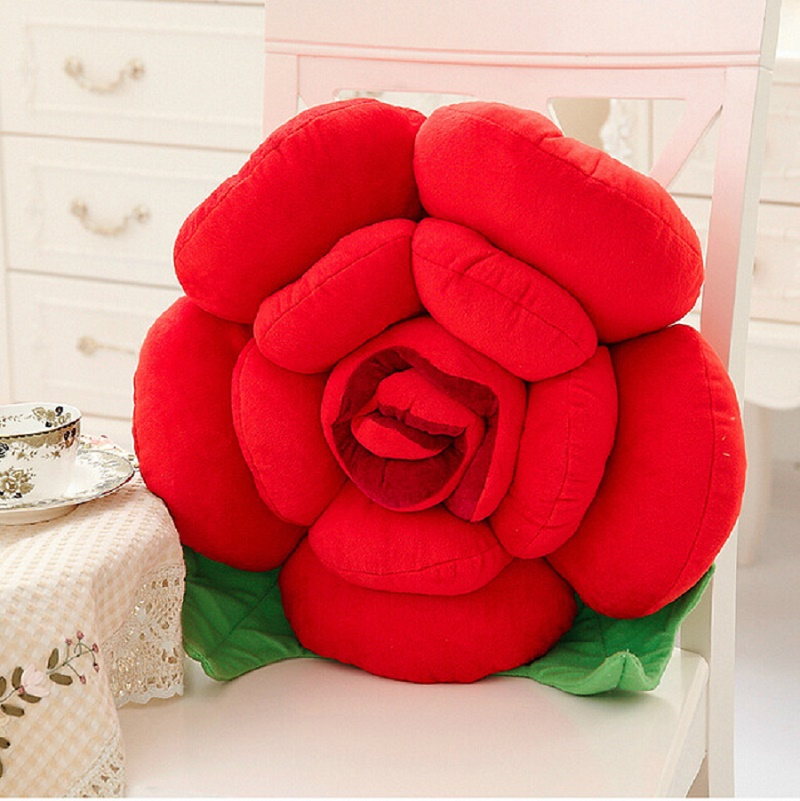 Stereoscopic Rose Style Novelty Home Wedding Decorative Pillows Sofa Cushion Pillow Cojines Valentine's Day Gift Coussin
