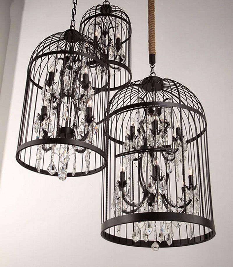 Retro-Lamparas-Black-Decor-American-Vintage-Industrial-Bird-Cage-Pendant-Light-With-Crystal-Ornaments-Nordic-Birdcage118