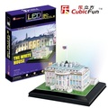 Kingtoy 3d puzzle with light  puzzle toy paper craft toy - the White House with  lighting. Child Diy Toy