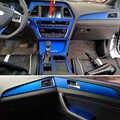 Für Hyundai sonata 9 2015-2017 Innen Zentrale Steuerung Panel Tür Griff 3 Carbon Faser Aufkleber Aufkleber Auto styling zubehör