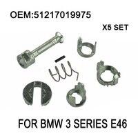 X5 Set Für BMW 3 Serie E46 TÜRSCHLOSS SCHLIEßZYLINDER REPAIR KIT VORNE LINKS ODER RECHTS OE 51217019975 Neue