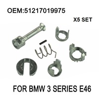 x5 Set For BMW 3 Series E46 DOOR LOCK LOCK CYLINDER REPAIR KIT FRONT LEFT OR RIGHT OE 51217019975 New