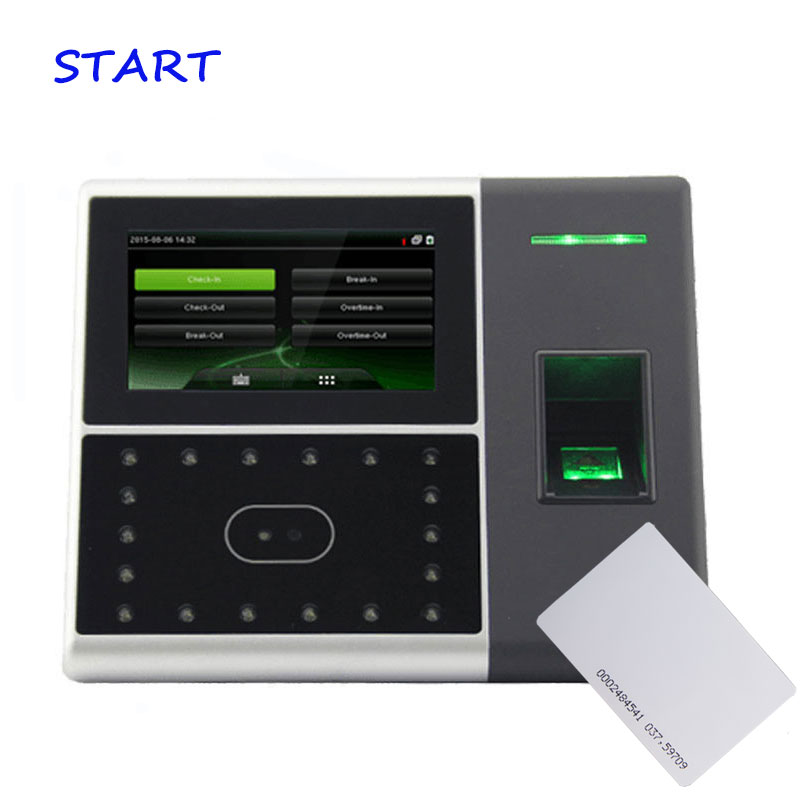 ZK Iface 302 Biometric Face & Fingerprint Time Attendance 125khz Rfid Time Clock Face Attendance System And Access Control