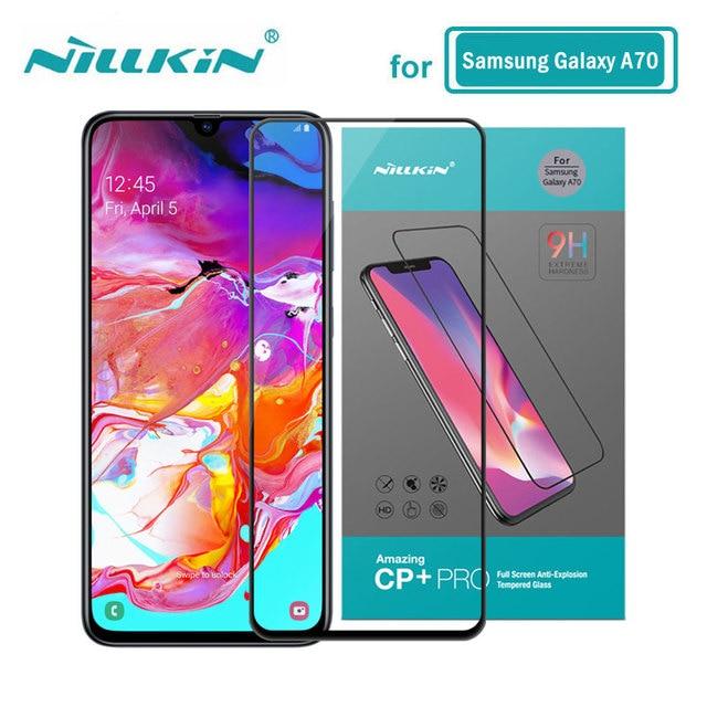 強化ガラス三星銀河 A70S A70 Nillkin アンチ爆発 CP + プロフル接着剤スクリーンプロテクター銀河 A70 ガラス
