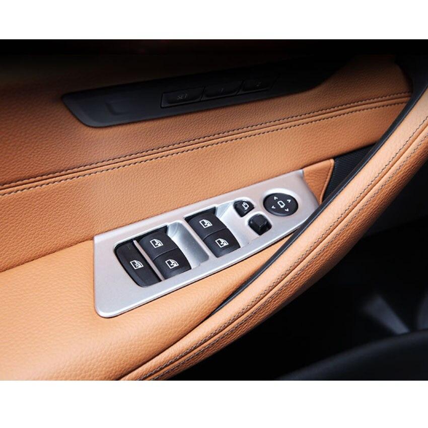 Bmw 5 シリーズ G30 G38 2018 Lhd 車インテリアリヤドアアームレスト窓リフトスイッチパネルカバートリムスタイリングインテリアアクセサリー部品