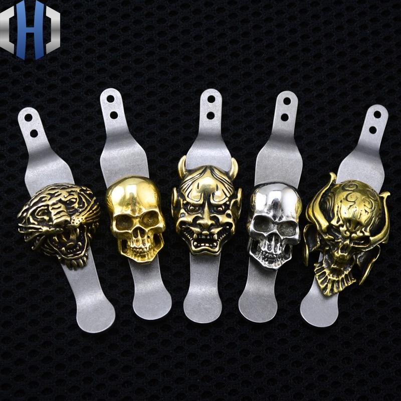 XM 18 дизайн TC4 титановый карманный нож зажим + латунный Скелет зажим для денег EDC Мульти инструменты
