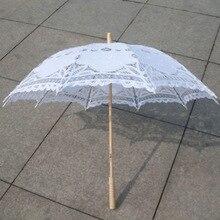 Кружевной зонтик ручной работы для свадьбы, зонтик для невесты, аксессуары для свадебной вечеринки, зонтик