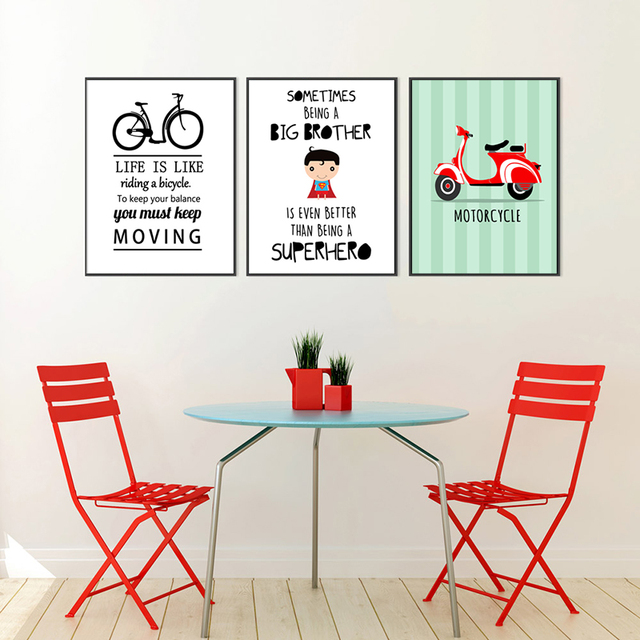 Baby Shower Gifts Cute Cartoon Bicycle Motorcycle Motivational