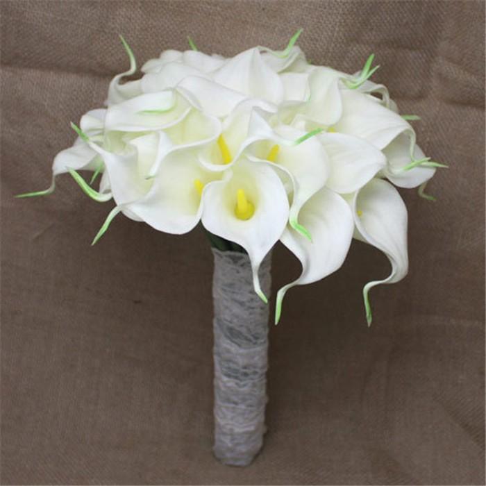 New arrival Romantic Wedding Bride \'s Bouquet Callas Bride Bouquet Bride Holding Flowers Wedding Bouquet (3)