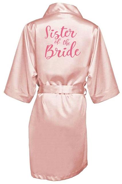 sexy pink robe kimono bridal pajamas wedding robe bridesmaid matron maid of honor sister mother of