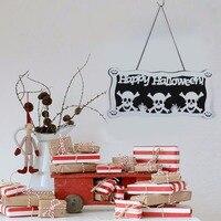 Sunbeauty Halloween Decoration Party Favor HAPPY HALLOWEEN Hanging Hang Tag Window Decoration Ghost Hanging Strips