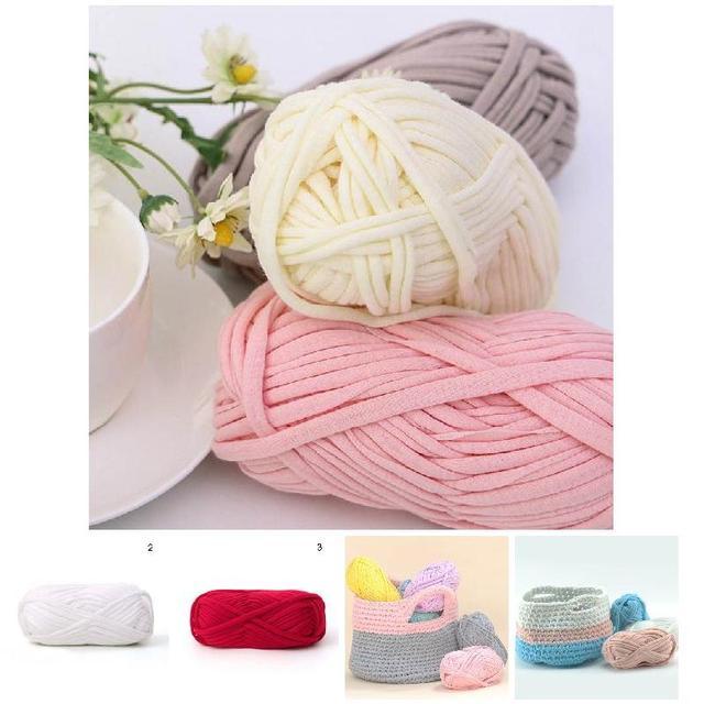New Hot 1 Pcs Tapetes Mão-de malha Cesta de Fio Tecido de Malha Cobertor 100g Corda Trançada do Fio DIY