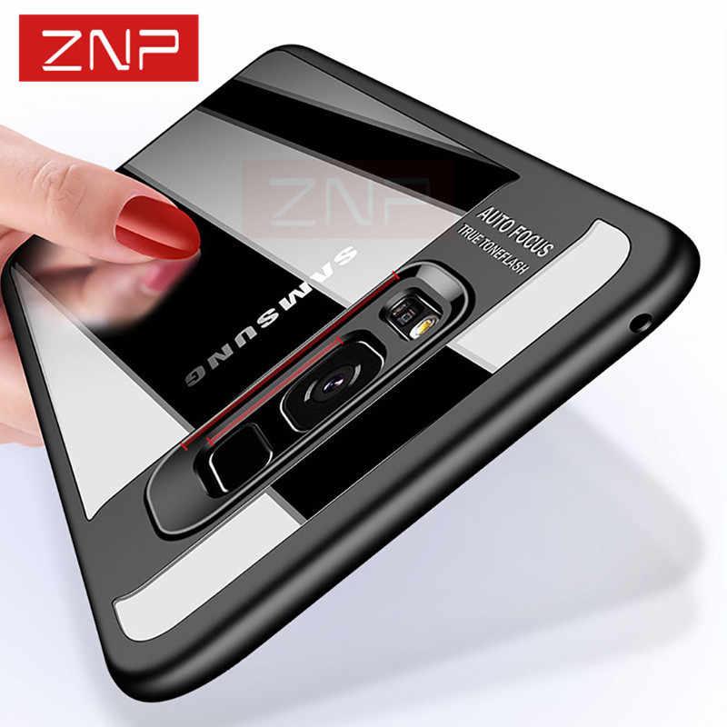 0d1560c202b38 ZNP мода полное покрытие Чехлы для samsung Galaxy S8 плюс S8 случае  прозрачные силиконовые чехлы для