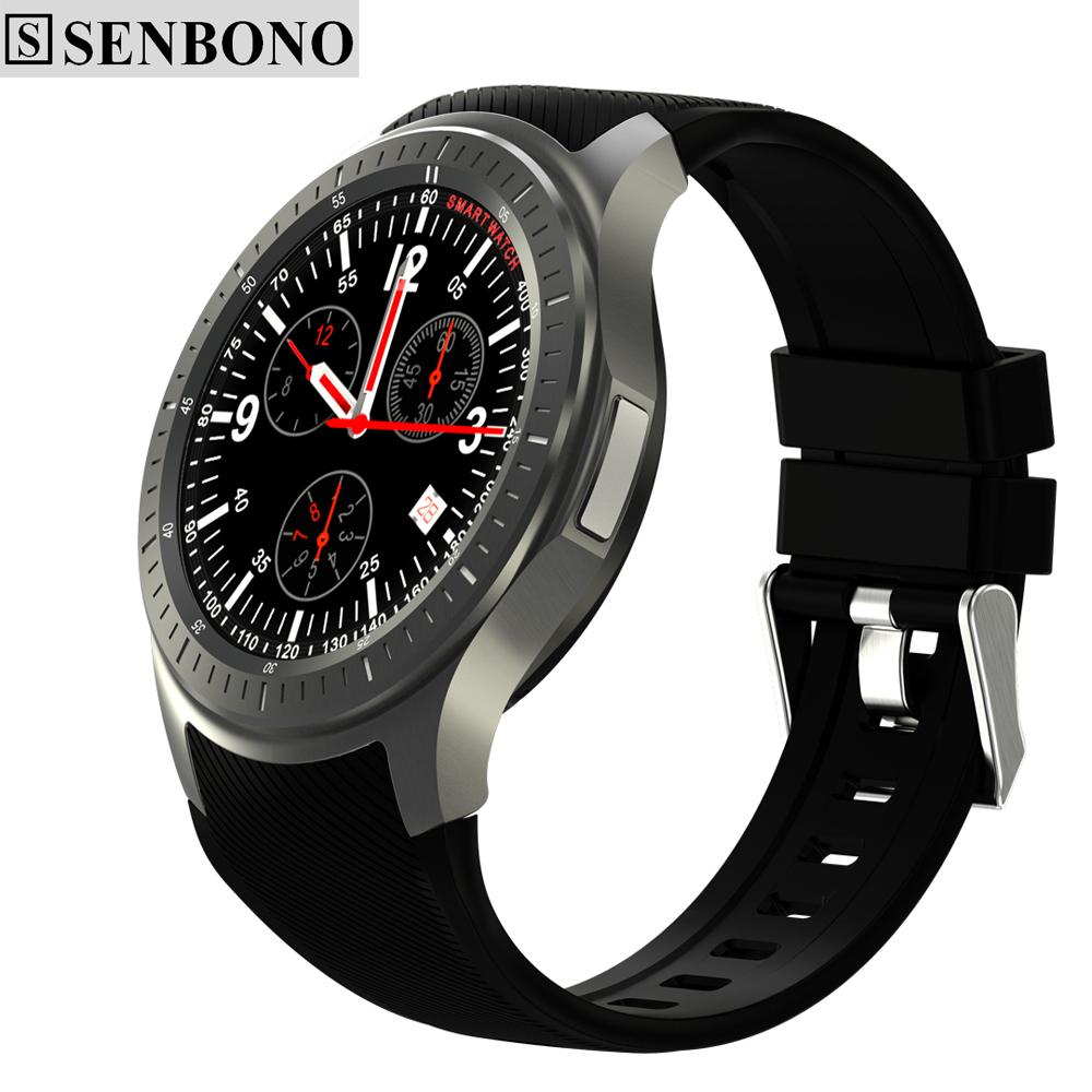 Prix pour SENBONO DM368 sport Smart Watch Téléphone MTK6580 Android OS 3G WIFI GPS Coeur Taux AMOLED Affichage Quad Core Bluetooth Smartwatch
