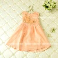 Chirstmas 3d fiore customes bambini abiti tutu, bambini all'ingrosso delle ragazze dei vestiti, 5 pz/lotto (p2459011), misura per 2-6 y