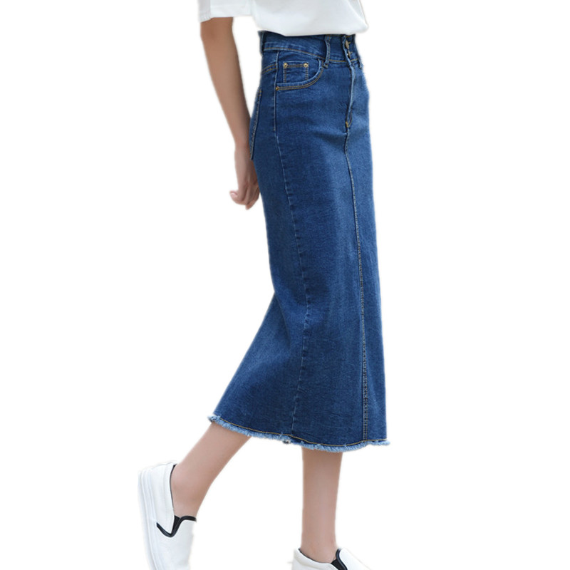 Online Buy Wholesale long straight denim skirts from China long ...