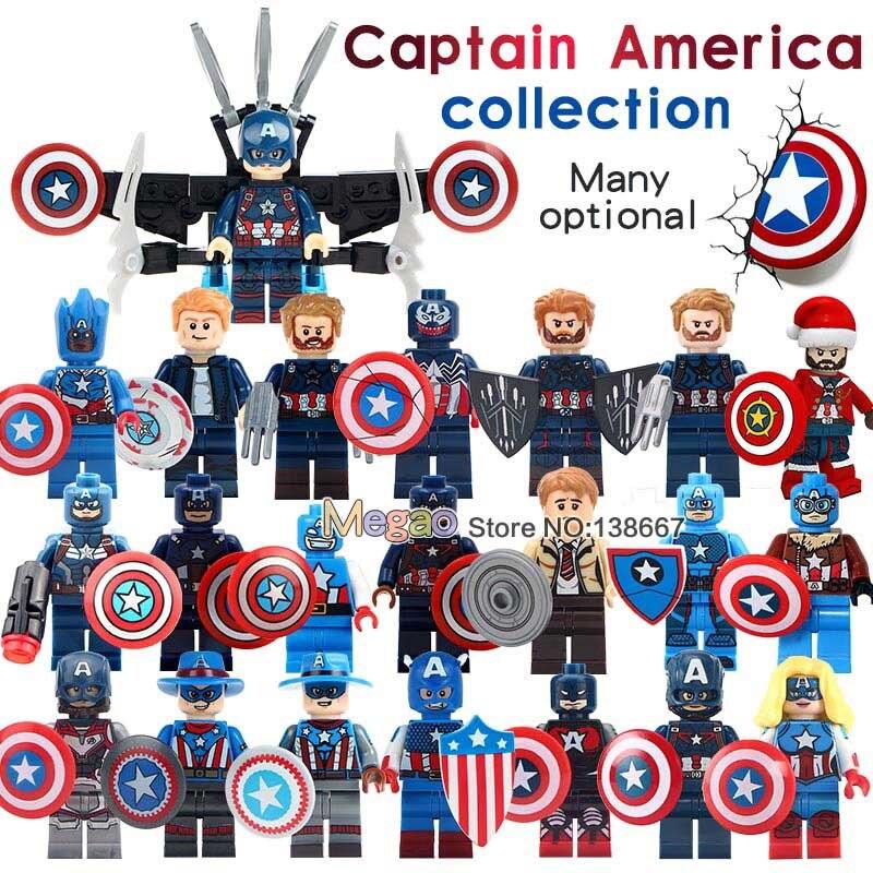 Single Sale Marvel Super Heroes Avengers 4 End Game Infinity War Captain America Model Action Building Blocks Kids Toys
