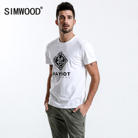 SIMWOOD New 2018 Brand Summer Short Sleeve T Shirts Men 100 Cotton Fashion Tees Plus Size