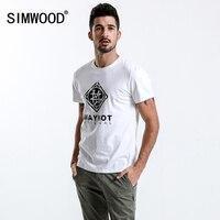 SIMWOOD New 2018 Brand Summer Short Sleeve T Shirts Men 100 Cotton Fashion Tees Plus Size