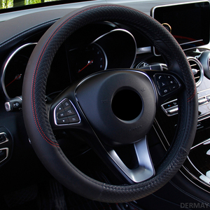 Image 4 - 2019 New Car Steering Wheel Cover for 37 38CM Leather Breathable Fabric Braid Car Steering Wheel Cover Auto Interior Accessories