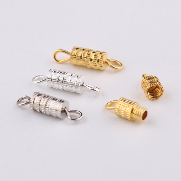 reidgaller 50pcs silver gold plated jewelry findings connector screw hook clasps for bracelets making